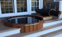 6 x 3.5 Natural Cedar Tub, deck insert.